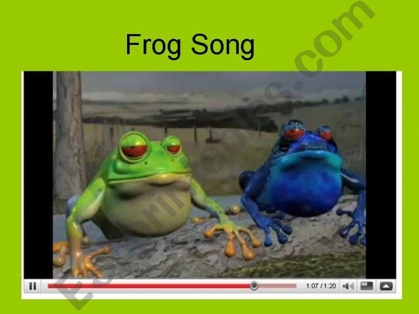 Frog Song  powerpoint