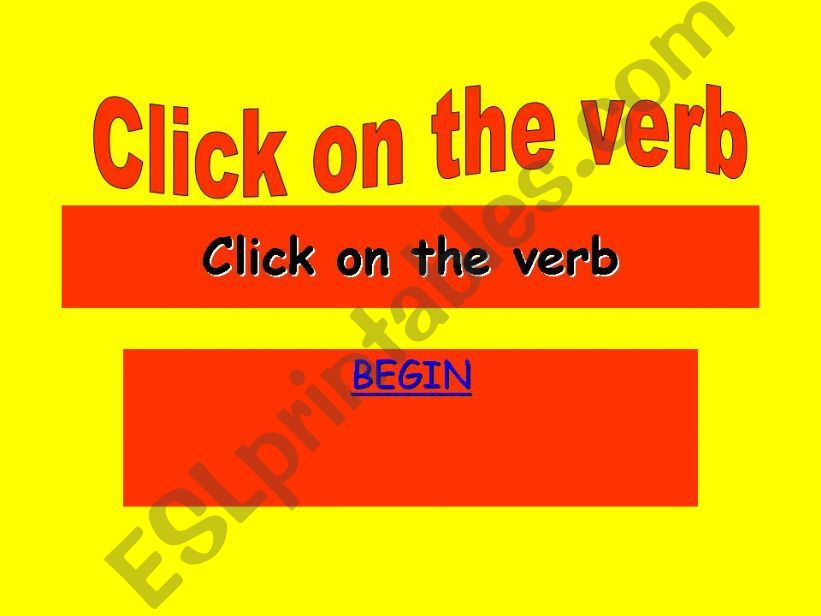 find the verb competiton powerpoint