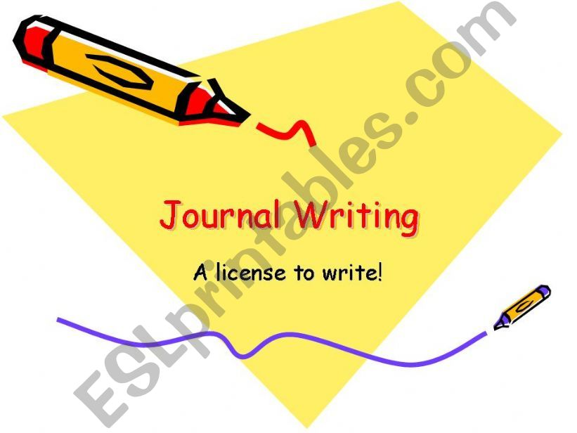 Journal Writing powerpoint