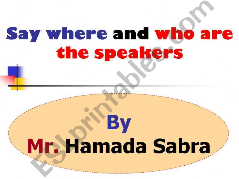 Who are the speakers and where (52) slides