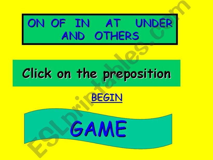 pepositions  game powerpoint