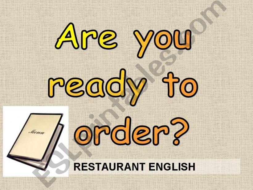 RESTAURANT ENGLISH powerpoint