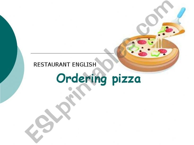ORDERING PIZZA powerpoint