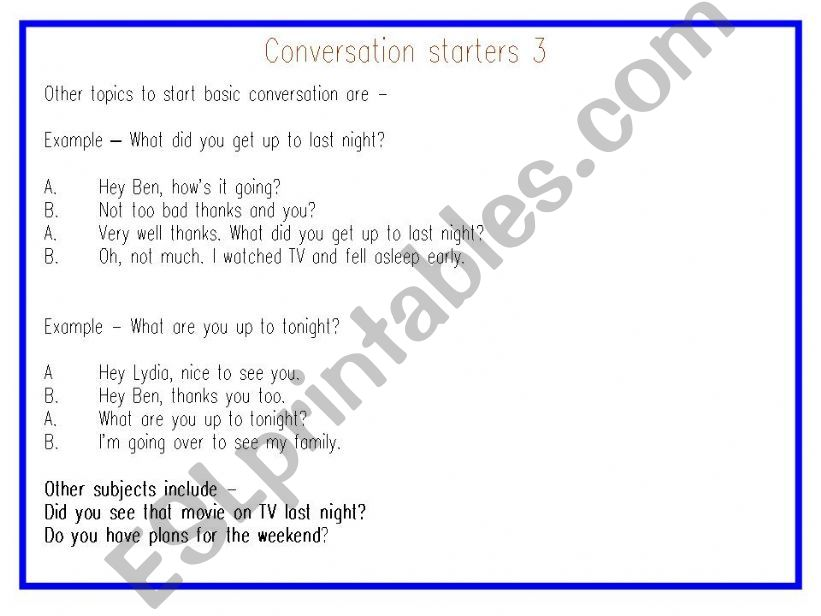 ESL - English PowerPoints: Adult Conversation - Going for a