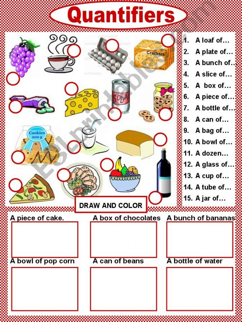 Food Presentation Quantifiers powerpoint