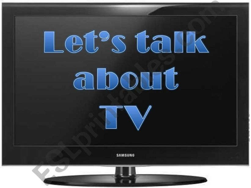 Let´s talk about TV powerpoint