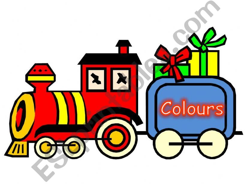 COLOURS TRAIN DISPLAY powerpoint