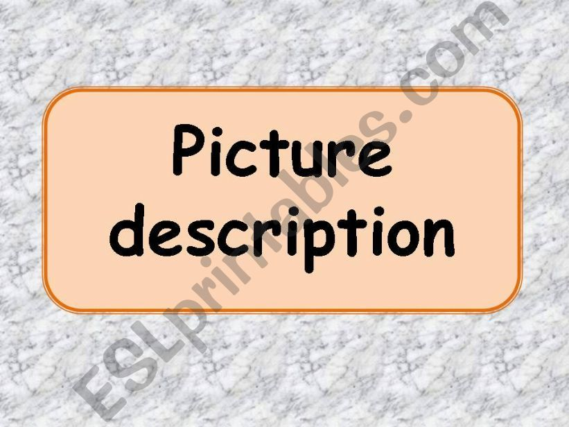 Picture description powerpoint