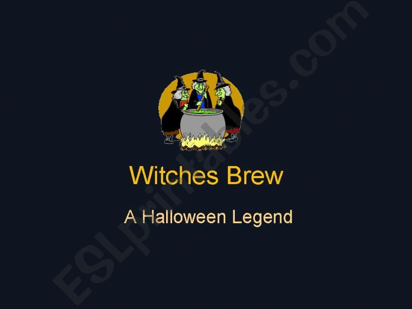 Witches Brew a Halloween Legend literary language, original version