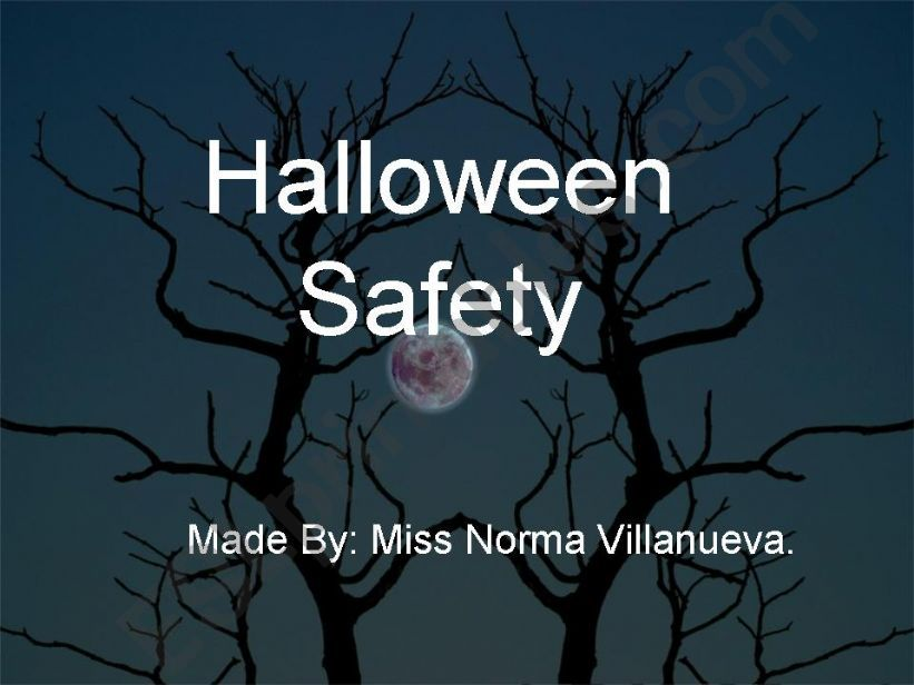esl english powerpoints halloween safety