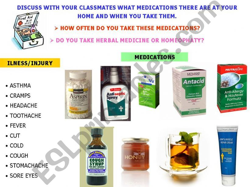 ESL - English PowerPoints: Medications