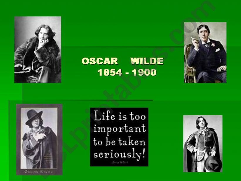 Oscar Wilde´s biography and work Part 1