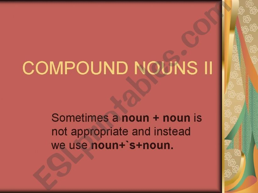 compound nouns powerpoint