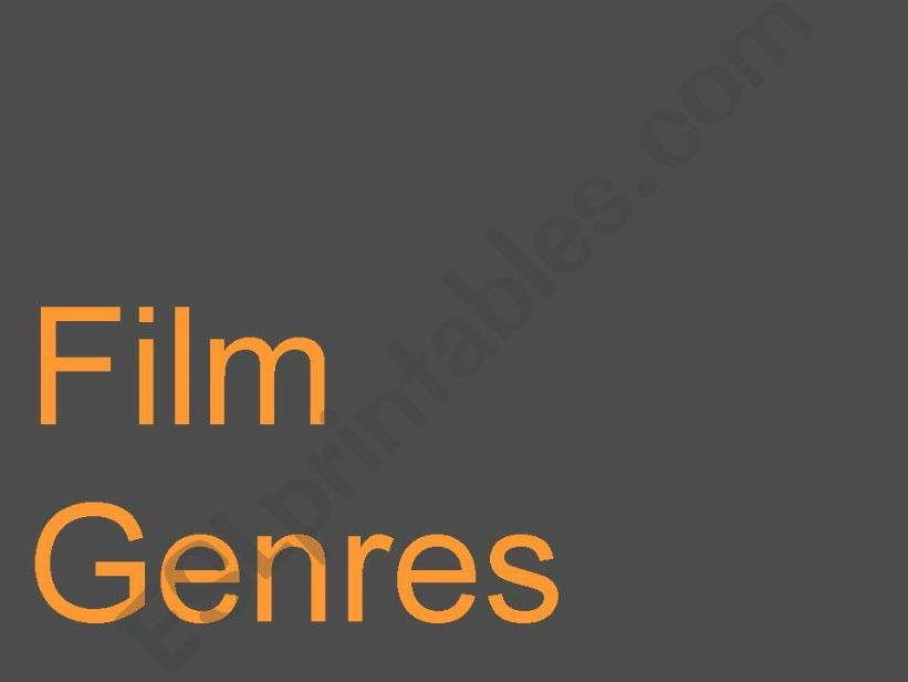 Film Genres powerpoint