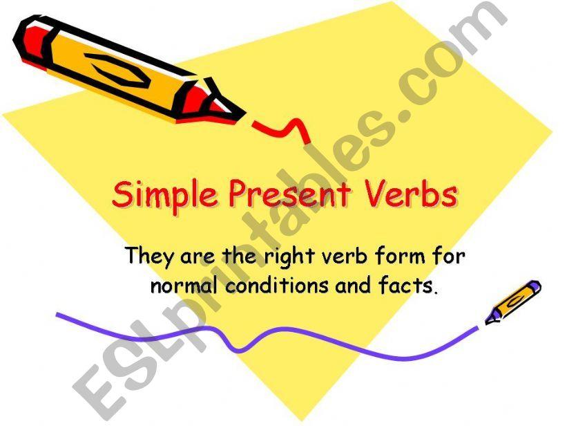 Simple Present Tense powerpoint