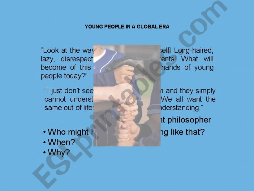 Young People in a Global Era powerpoint