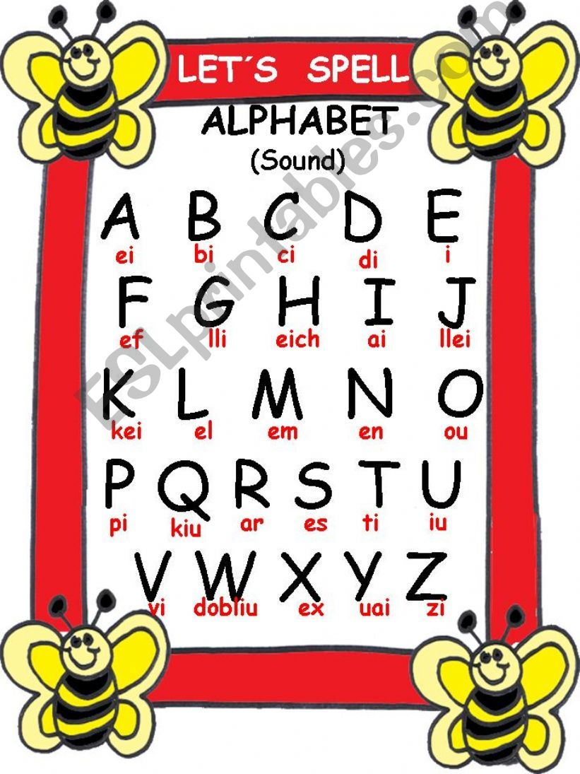 ESL   English PowerPoints: ABC Letters sound