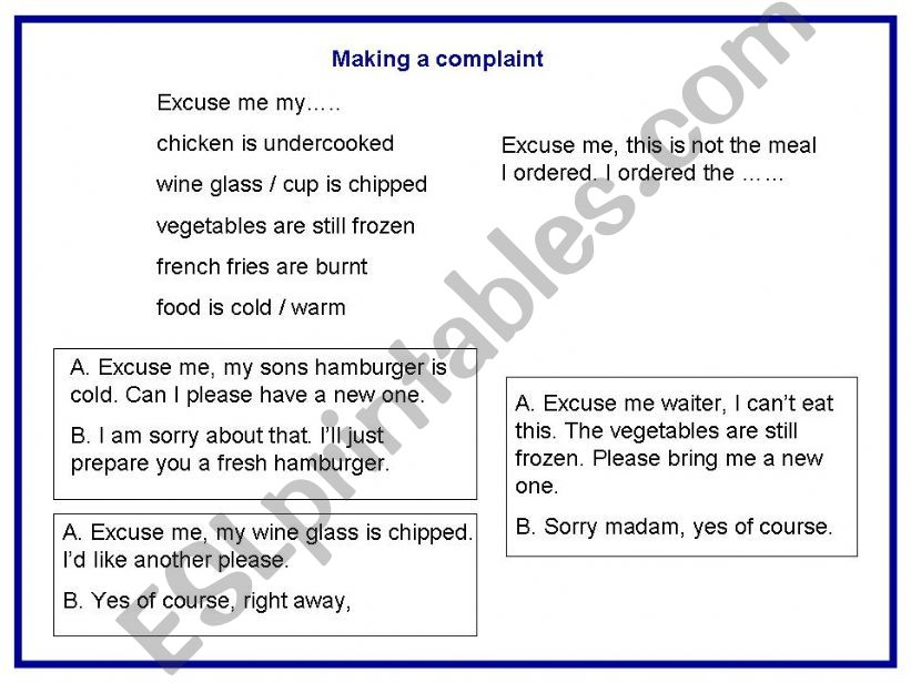 ESL - English PowerPoints: Adult Conversation - Eating out