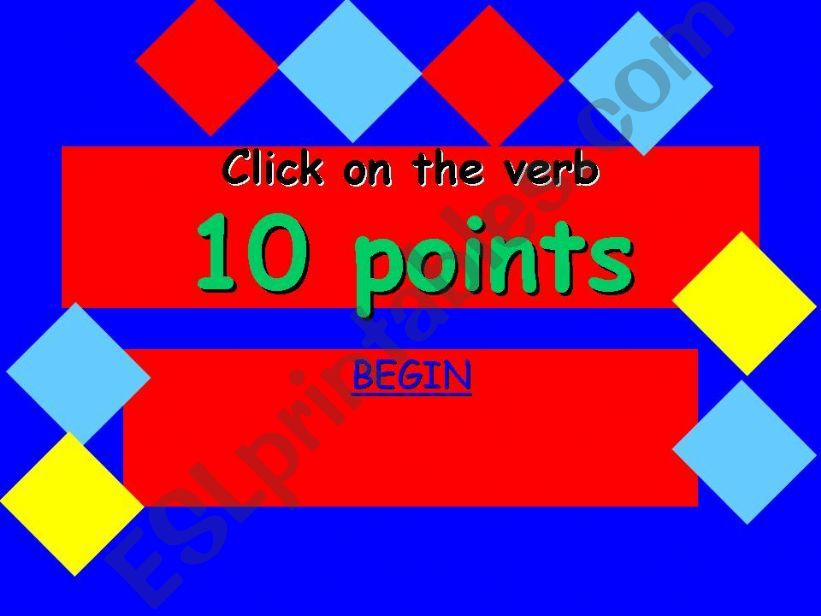 10 ponts verb game powerpoint