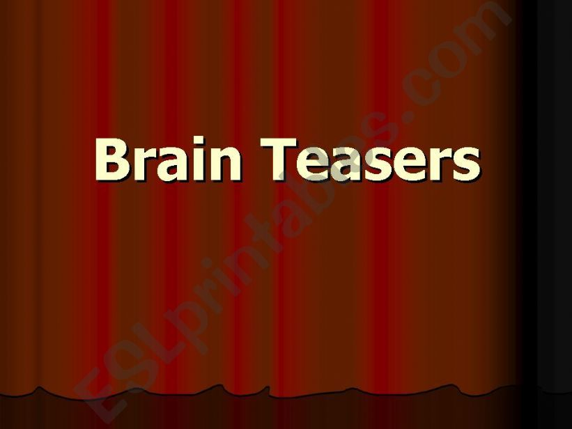 Brain Teasers/Funny IQ Test powerpoint