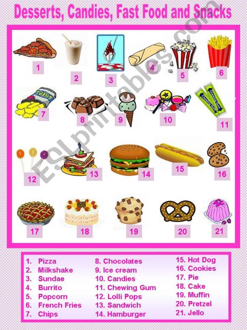 Food (1 / 6) powerpoint