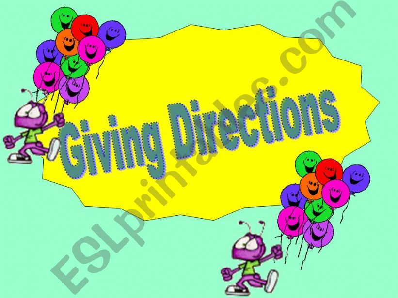 giving directions powerpoint