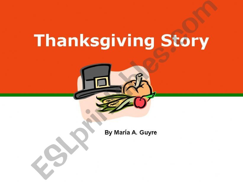 Thanksgiving story powerpoint