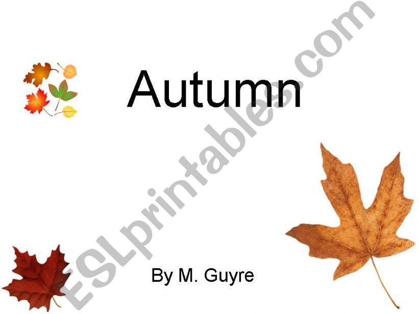 Autumn part one powerpoint