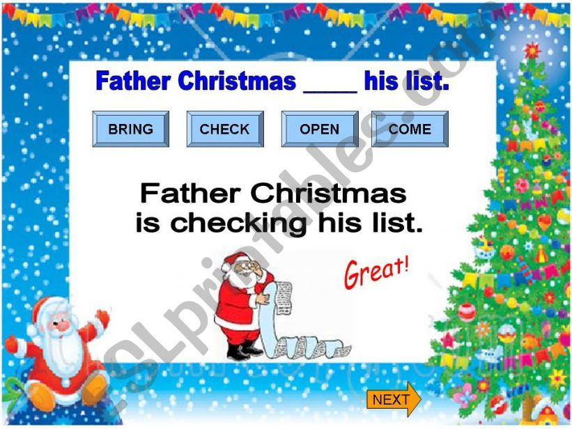 Christmas  1/3 powerpoint