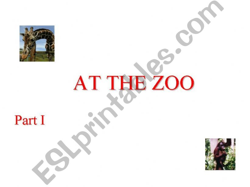 At the zoo Part I powerpoint