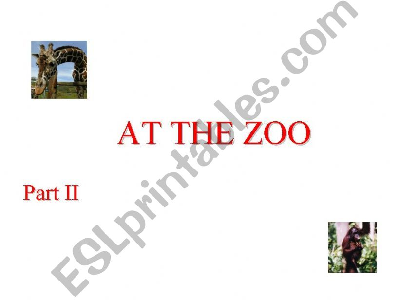 At the zoo part II powerpoint