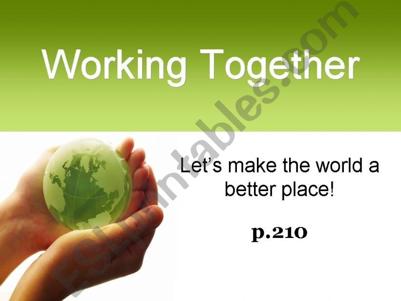 Make the World a Better Place powerpoint