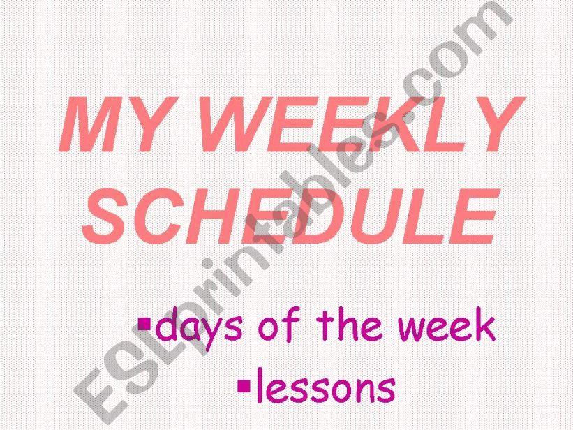 weekly schedule powerpoint
