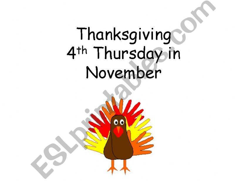 Thanksgiving Information powerpoint