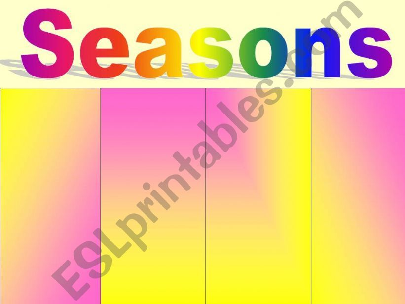 seasons powerpoint