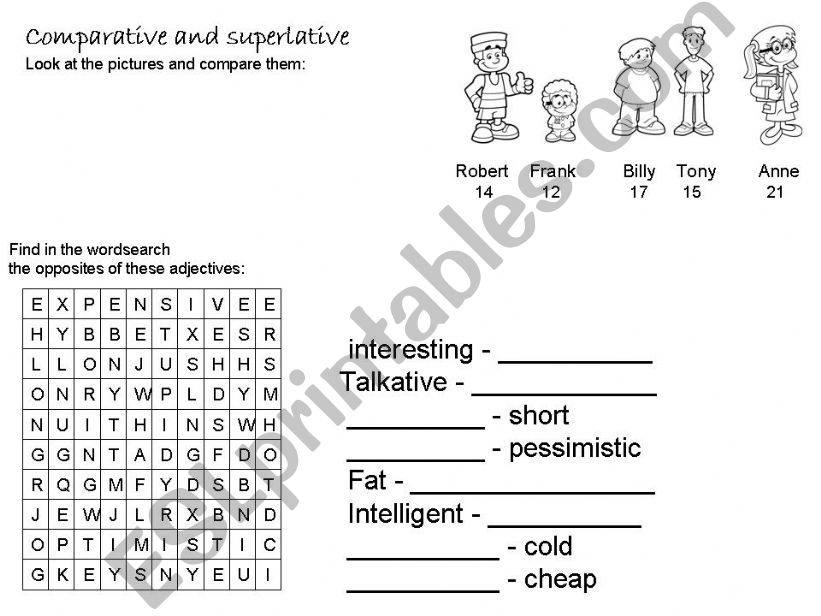 Comparative and superlative powerpoint