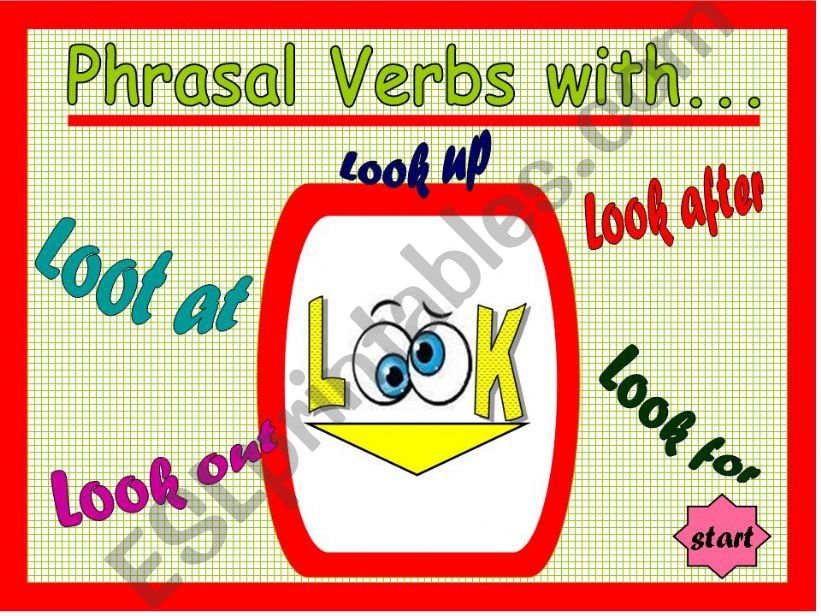 Phrasal Verbs - Game 02 - with Look
