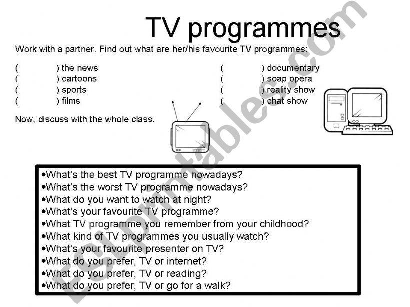 TV programmes powerpoint