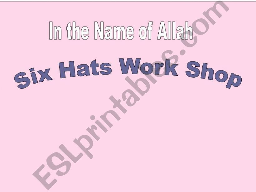 Six Thinking Hats Workshop I Made E