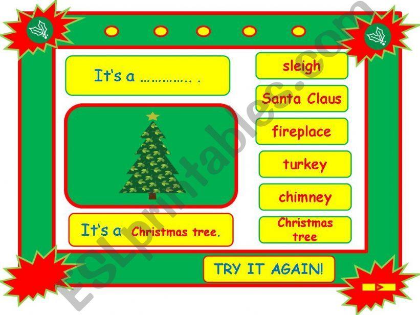 Festivals - CHRISTMAS vocabulary game part 2