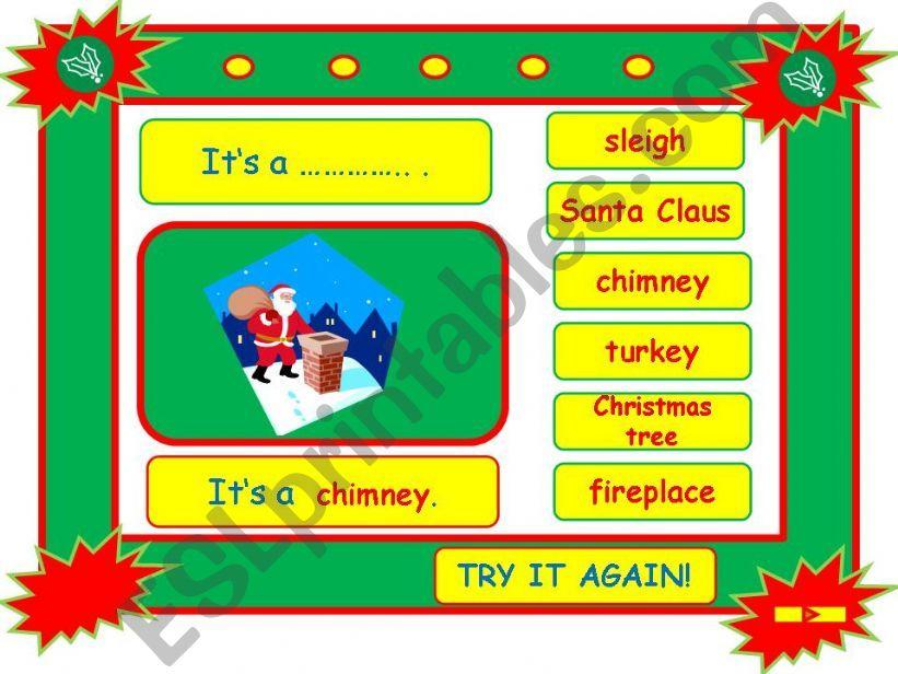 Festivals - CHRISTMAS vocabulary game part 3
