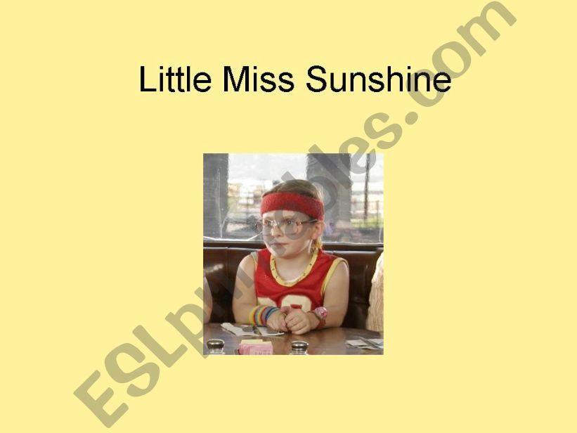 Quiz - Little Miss Sunshine powerpoint