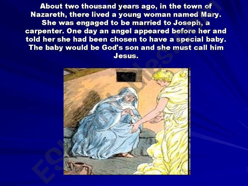 The Christmas Story, the birth of Jesus