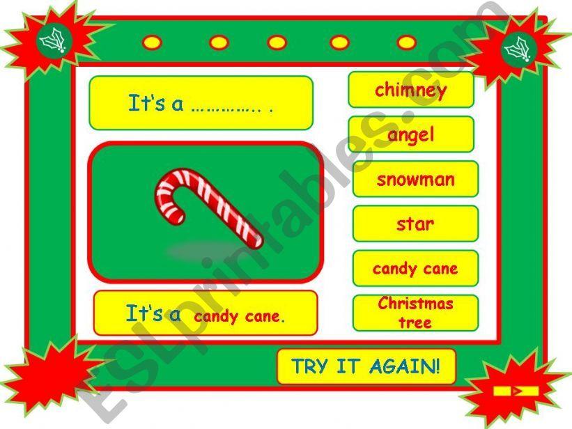 Festivals - CHRISTMAS vocabulary game part 6