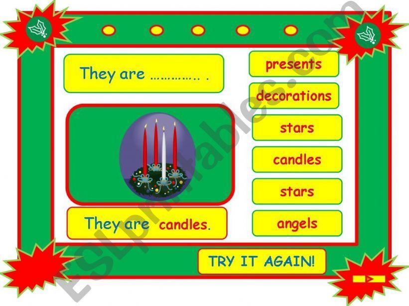 Festivals - CHRISTMAS vocabulary game part 8