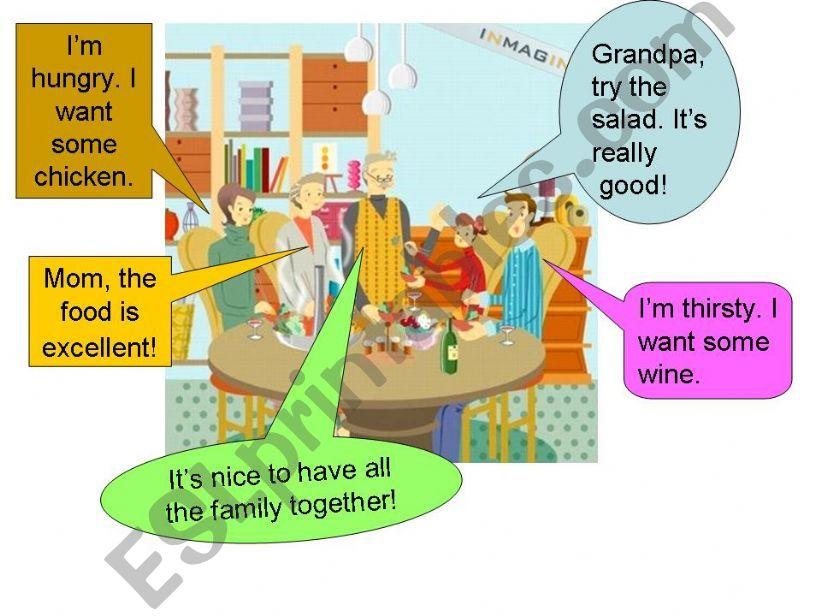 Family dinner powerpoint