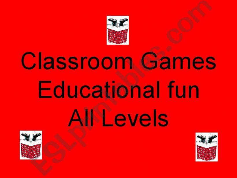 Classroom games writing - dots- unscramble-color - context clues