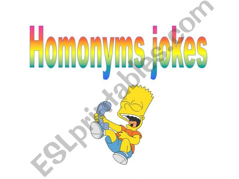 Homonyms jokes powerpoint