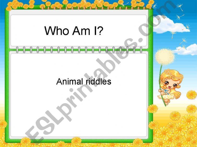 Animals Riddles powerpoint