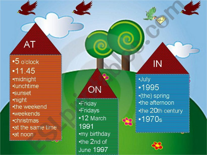 time prepositions(on-in-at) powerpoint